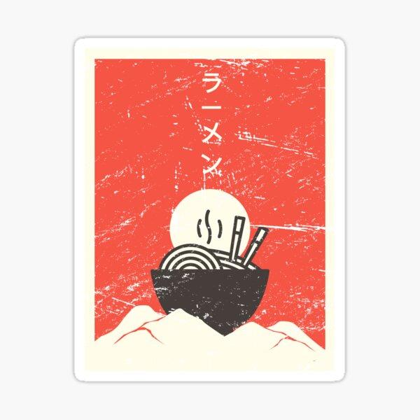 Vintage Japanese Anime Ramen Sticker
