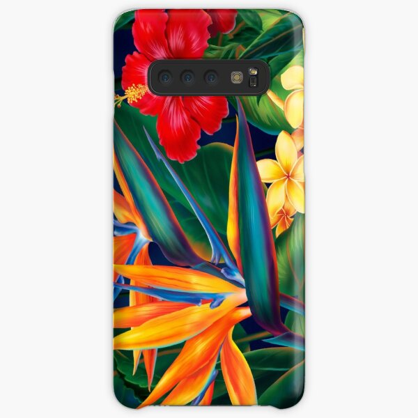 Tropical Paradise Hawaiian Birds of Paradise Illustration Samsung Galaxy Snap Case