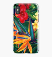Tropical Paradise Hawaiian Birds of Paradise Illustration iPhone Case