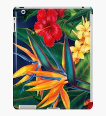 Tropical Paradise Hawaiian Birds of Paradise Illustration iPad Case/Skin