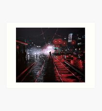 Night City Rain - 6 Art Print