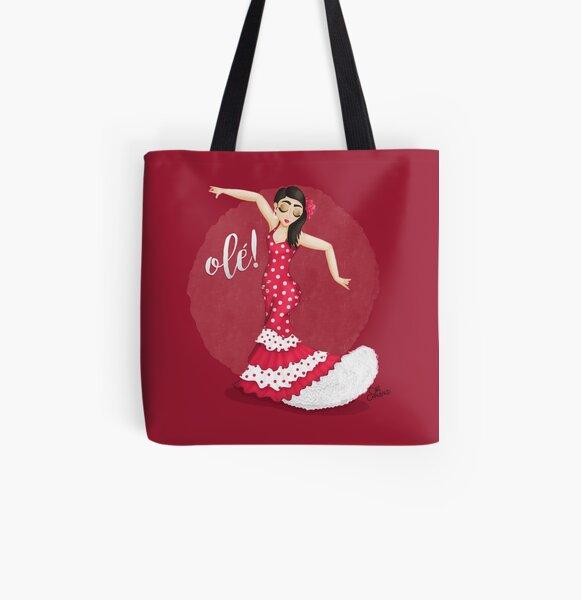 ¡Bailarín de flamenco! Viejo Bolsa estampada de tela