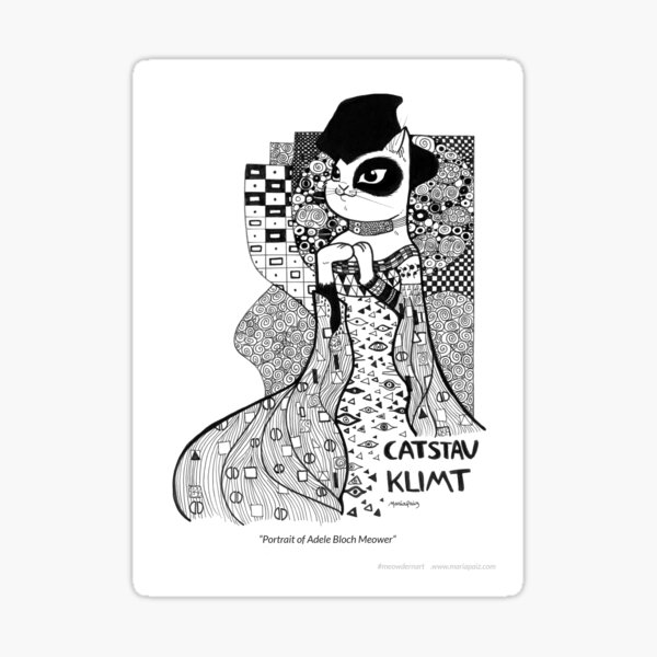 #meowdernart - Catstav Klimt Sticker