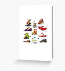 Wacky Races Greeting Card
