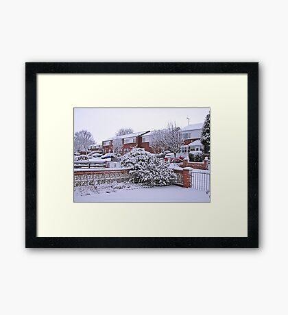 Jungfrau Schnee Gerahmter Kunstdruck