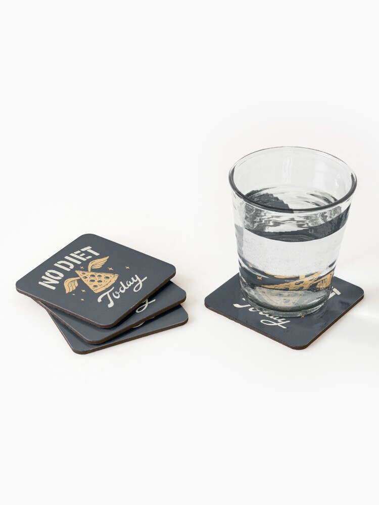 Alternate view of No Diet Today Coasters (Set of 4)