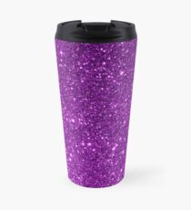 Lila Sparkly Glitter Thermosbecher