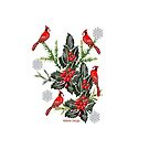 Holly,Cardinals & Snowflakes by aldona