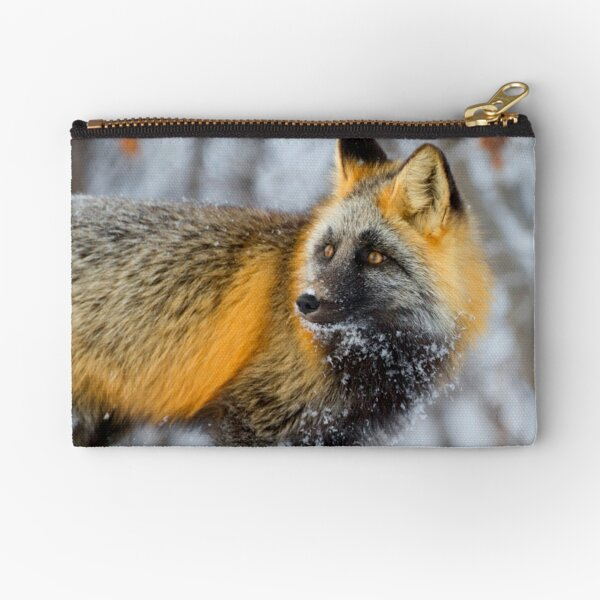 Cross Fox in the Arctic Zipper Pouch