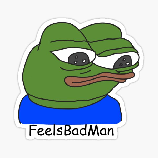 Feelsbadman Stickers Redbubble About 13,337 results (0.88 seconds). redbubble