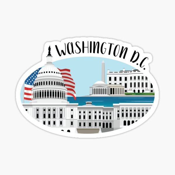 DC Skyline Illustration Sticker