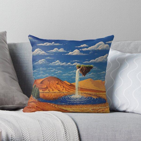 Desolate Cascade Throw Pillow