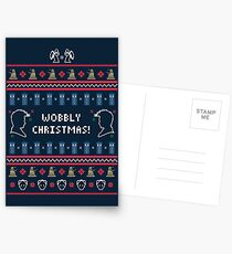 Have a Wobbly Christmas! Postcards