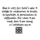 2 Corinthians 12:9-10 by VampicaX
