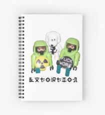 extortion - f*ck work Spiral Notebook