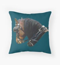 Welsh Pony in harness Throw Pillow