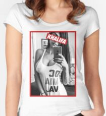MIA KHALIFA Women's Fitted Scoop T-Shirt