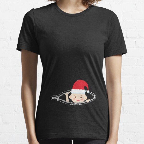 Baby Santa Hat Pregnancy Maternity Shower  Essential T-Shirt