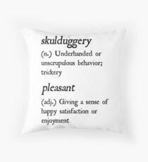 "Cojín Definición ""Skulduggery Pleasant"" (Negro)"