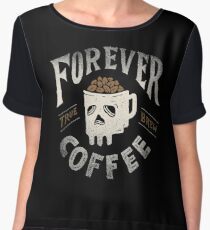 Forever Coffee Chiffon Top