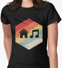 House Music - Vintage Retro Hexagon Women's Fitted T-Shirt