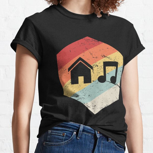 House Music - Vintage Retro Hexagon Classic T-Shirt