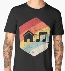 House Music - Vintage Retro Hexagon Men's Premium T-Shirt