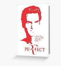 Roger Federer Legend - Red Greeting Card