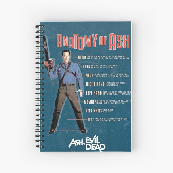 The Anatomy of Ash Spiral Notebook