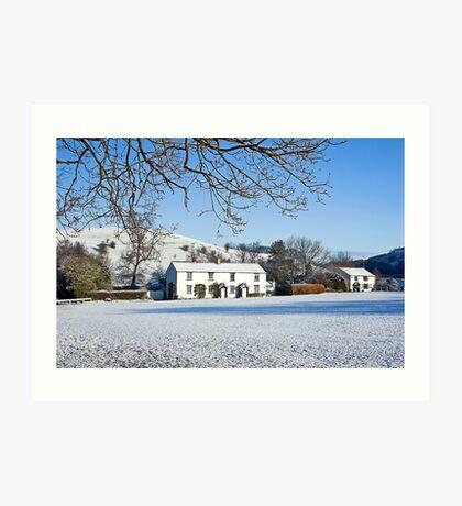 Winter at White Coppice Art Print