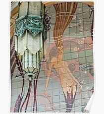 Avalon Casino entrance - mermaid mural Poster