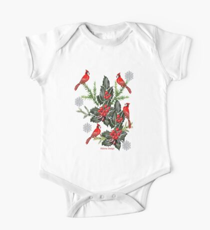 Holly,Cardinals & Snowflakes Kids Clothes