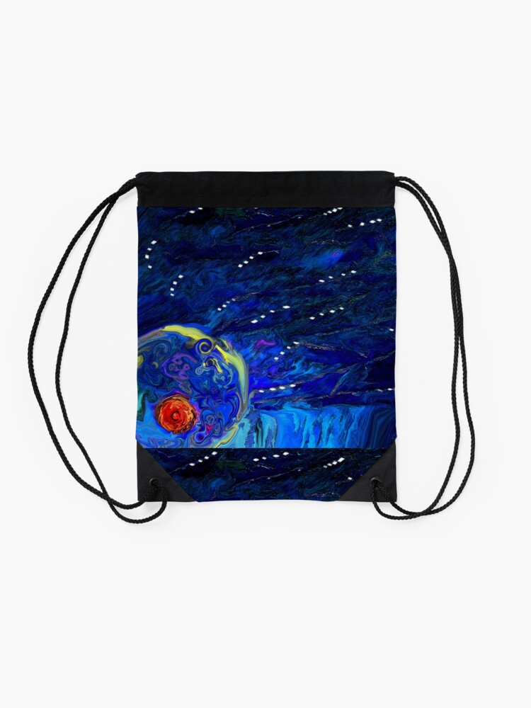 Alternate view of Cosmic Nipple in the Corner of my Bedroom Drawstring Bag