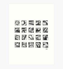 Ink Squares Art Print