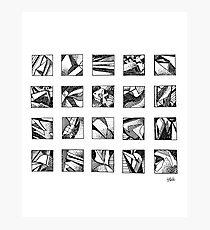 Ink Squares Photographic Print