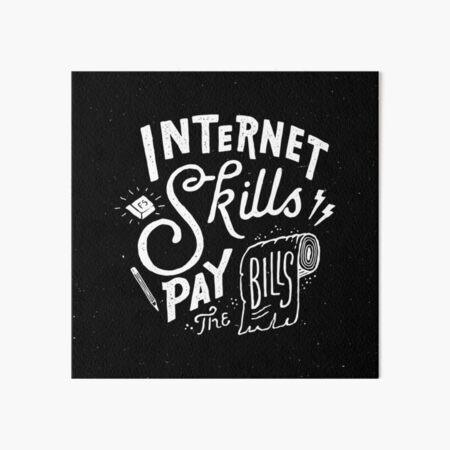 Pay the Bills Art Board Print