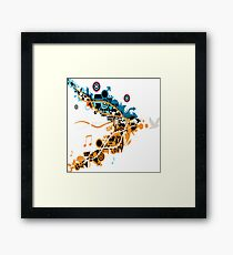 Design life and music  Framed Print