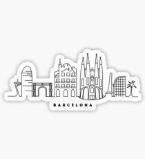 Barcelona Skyline Sticker