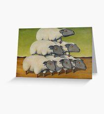 Sheep Stack Greeting Card
