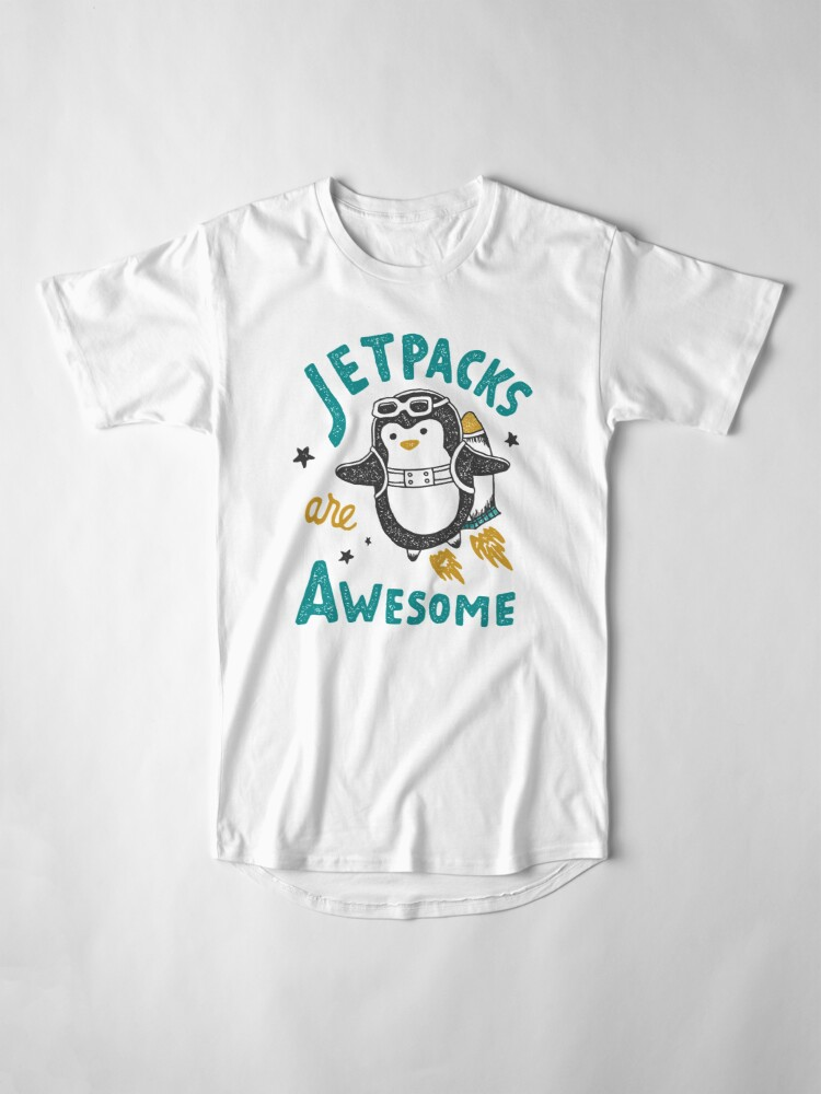 Alternate view of Jetpacks are Awesome Long T-Shirt
