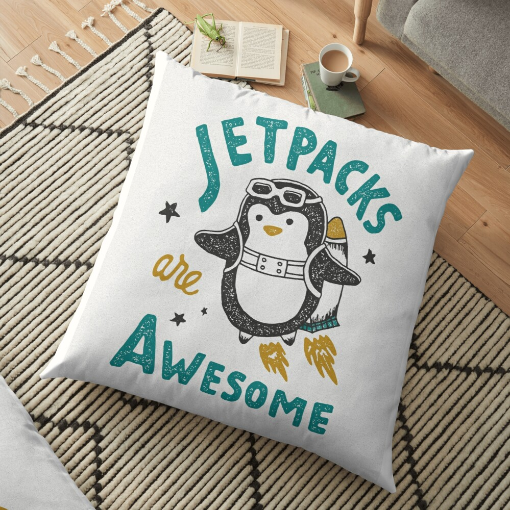 Jetpacks are Awesome Floor Pillow