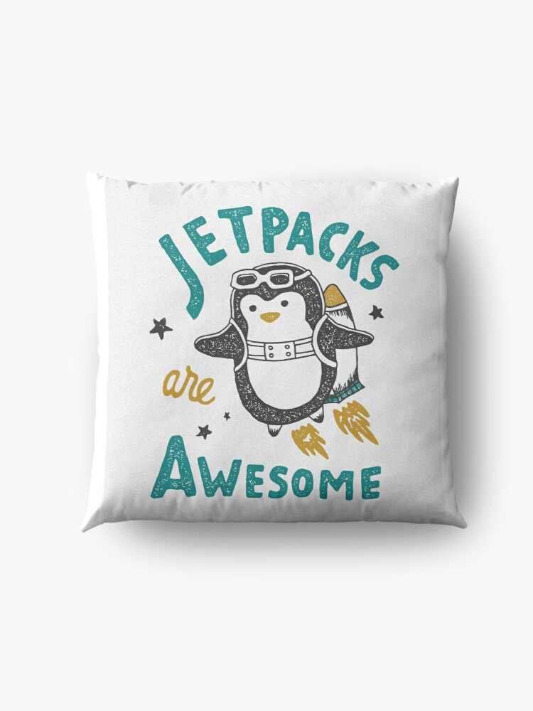 Alternate view of Jetpacks are Awesome Floor Pillow