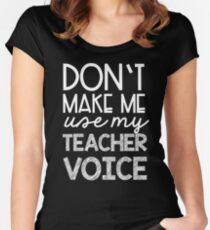 Teacher Voice Women's Fitted Scoop T-Shirt