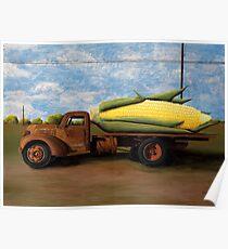 Corn Truck Poster