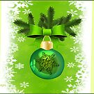 Green Christmas ornament  (4891 Views) by aldona