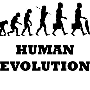 Human evolution by texta