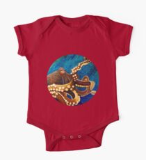 Painted Octopus Round Kids Clothes