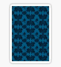 Bold Hawaiian Surf blue black lace Sticker