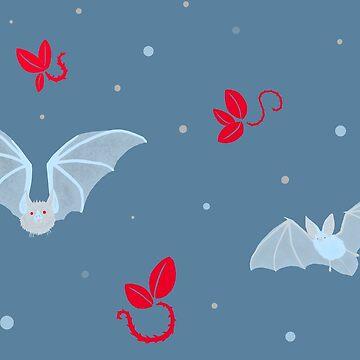 Winter Bats by SymmetryIsArt