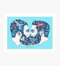 Bärte in der Liebe Art Print